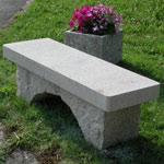 Steinbänke Brescello, Granit