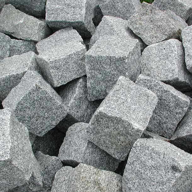 Kleinpflaster 8/11 Granit Kl. 1b blaugrau hell