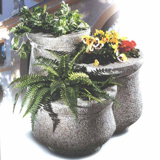 Pflanztröge Tris di Fiorriere, Granit